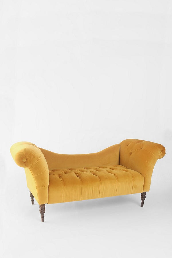10 best images about gold furniture on pinterest antique for Small fainting couch