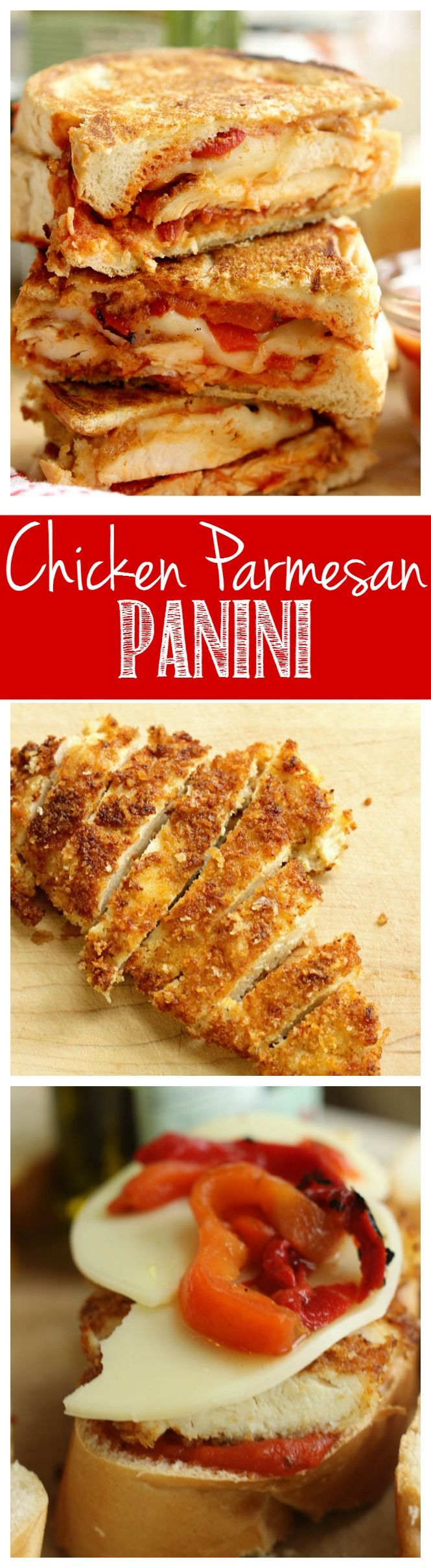Chicken Parmesan Panini - Grilled sandwiches fille…