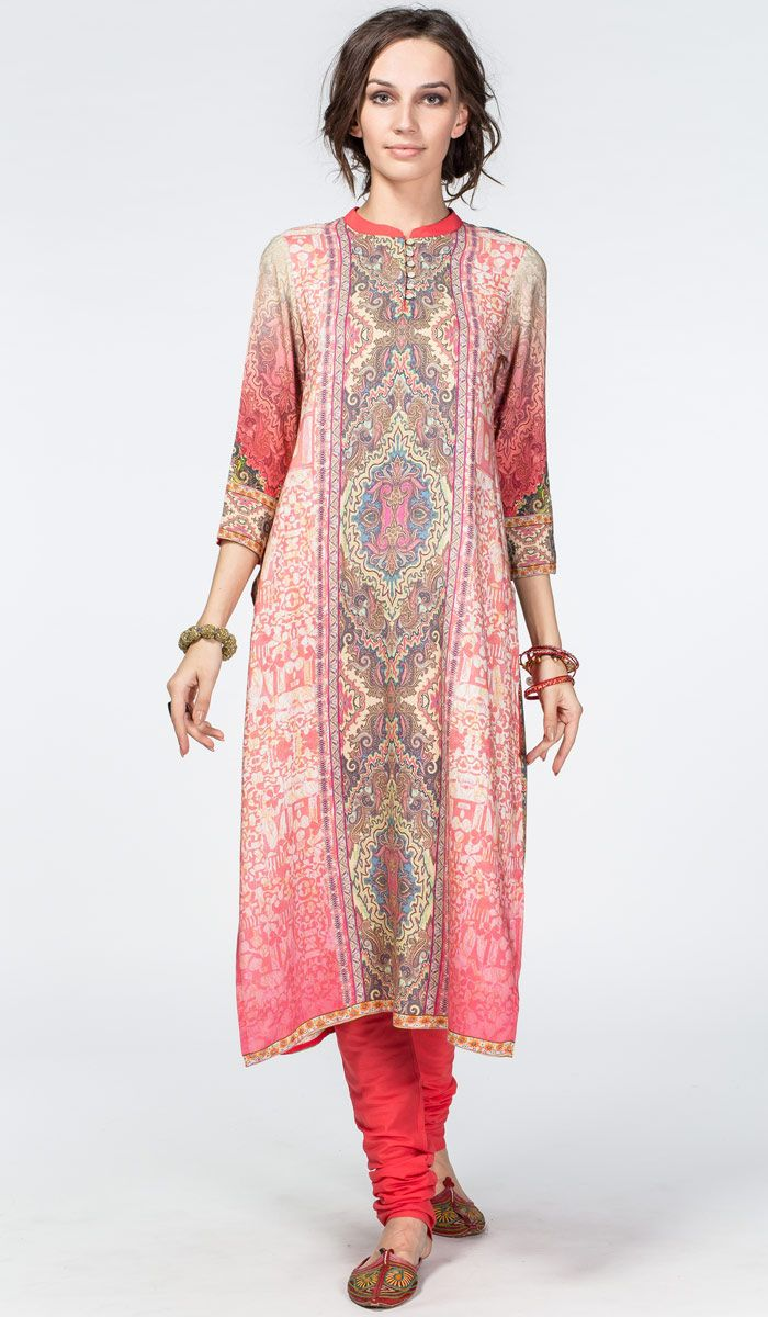 Заказать: http://indiastyle.ru/products/pandzhabi-tsaritsa-vostoka Панджаби Царица Востока, индийская одежда, чуридар курат с орнаментом  8400 рублей