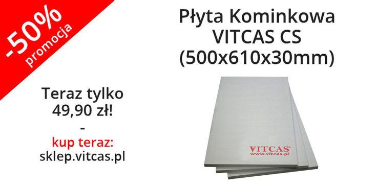 Płyta Kominkowa VITCAS CS (500x610x30mm) teraz aż 50% taniej! Kup teraz: http://sklep.vitcas.pl/pl/p/Plyta-Kominkowa-VITCAS-CS-500x610x30mm/293
