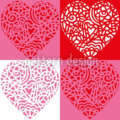 Hearty Red by Maja Tomazic available for download on patterndesigns.com