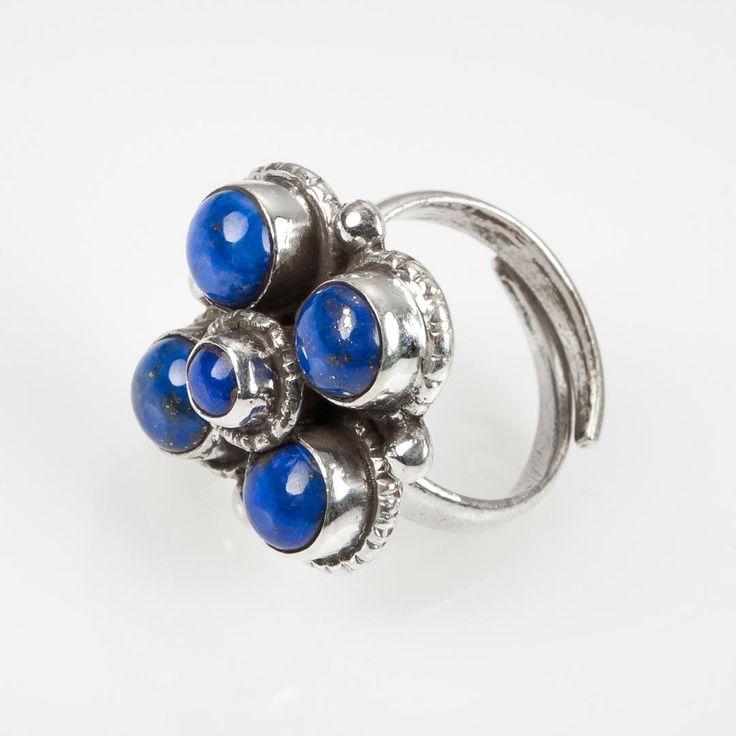 Inel mandala lapis lazuli, argint, Nepal  #metaphora #rings #nepal #silverjewelry #silverjewellery #lapislazuli #mandala