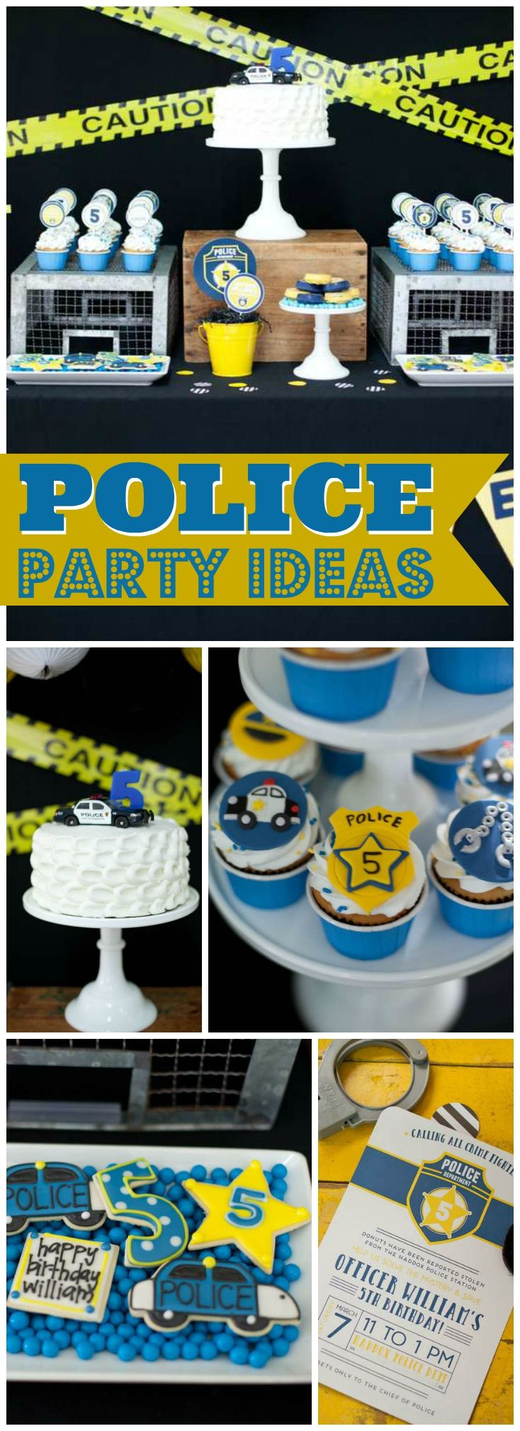 So many fun ideas at this police birthday party! See more party ideas at CatchMyParty.com!
