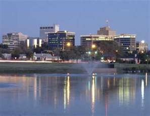 Midland Texas.  Looking at downtown from the A street duck pond. Spent a lot of time there as a kid.