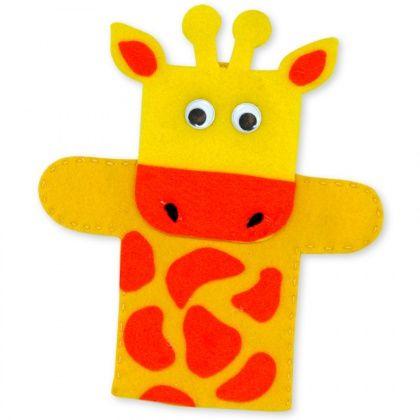 Felt Giraffe Hand Puppet - CleverPatch