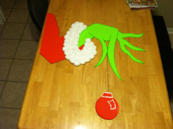 The grinch- my door decoration this year! | Christmas door ...