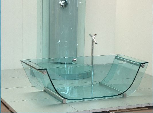 Brighten Up Twenty First Century Bathroom By Adding Flawless Glass Bathtub    Glass Bathtub With Massage Function, Clear Glass Tub, Modern Bathtub, ...