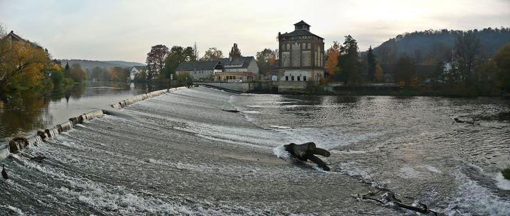 Bad Kösen Saalewehr und Alte Mühle (01) - Saale – Wikipedia