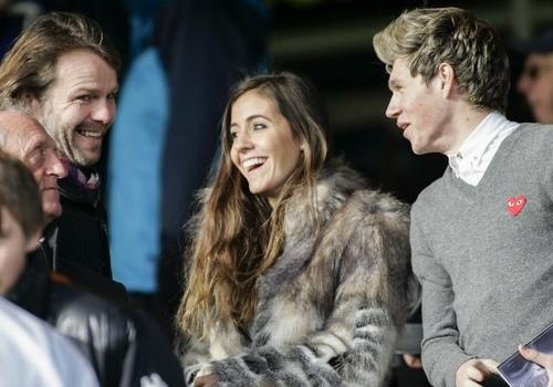 Niall and Amy at the Derby football match. 27/10/12