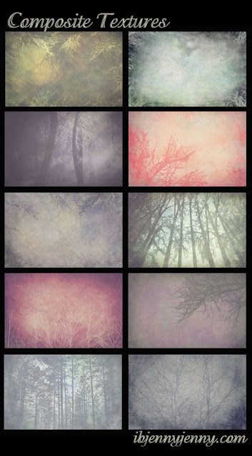 10 Free Composite Textures - ibjennyjenny Photography and Free Resources (need a program to open the files)