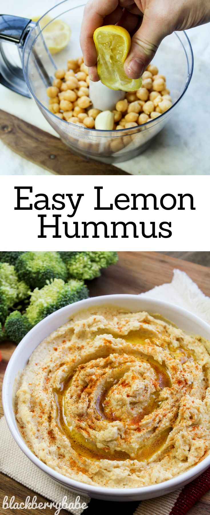 This easy Lemon Hummus is bright and flavorful, and so simple to make at home!