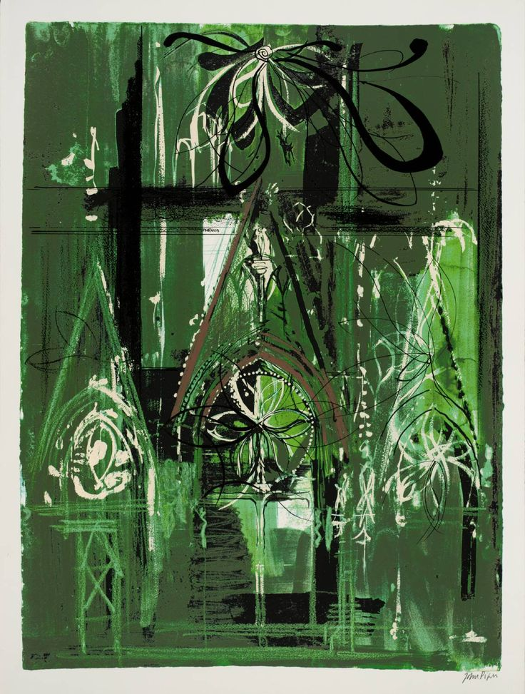 'Abbeville' (1972) by British artist John Piper (1903-1992). Screenprint on paper, 800 x 600 mm. via the Tate