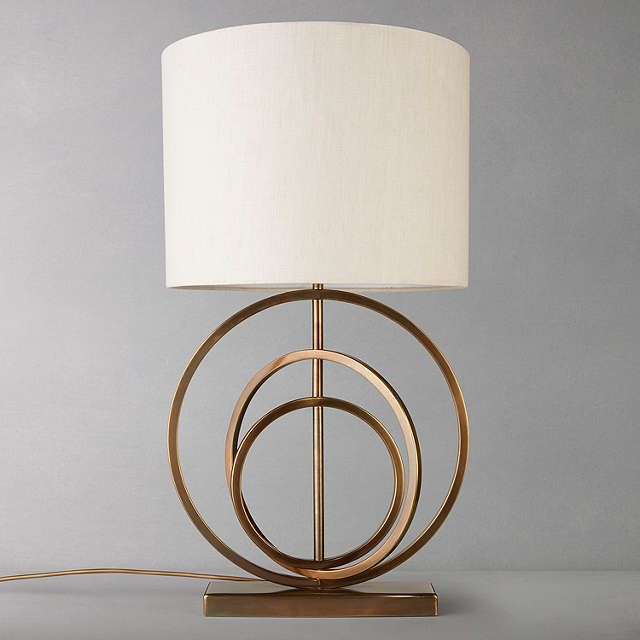 BuyJohn Lewis Ainsley Sculptured Rings Lamp Base, Antique Brass Online at johnlewis.com