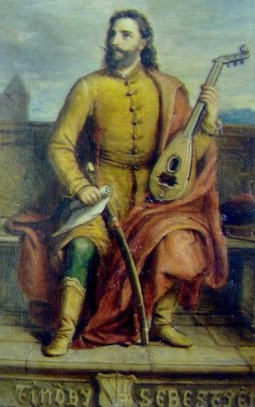 "Hungrain historian/minstrel--1549 - Tinódi Lantos Sebestyén: ""Lészen beszédem itten ez országról "" (Tinodi specialized in writing and performing 'epics' about contemporary socio-political events in 16th c. Hungary. 