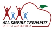 A logo designed by J2 Productionz for the private pay pediatric therapy insurance company All Empire Therapies.