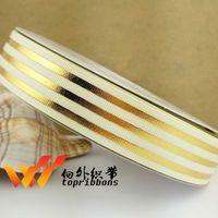 """Envío gratis lámina de oro de la cinta 10 yardas 1 """" ( 25 MM ) cinta de dibujos animados impreso cinta del grosgrain para arcos accesorios 6600-025-820-A"""