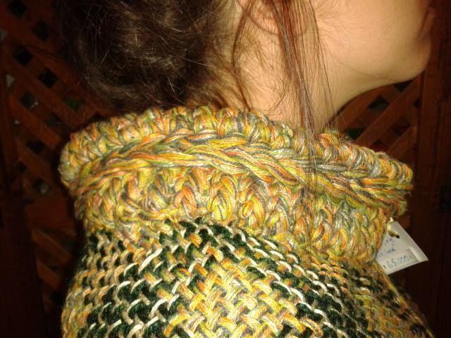 telar y crochet, hilo y seda