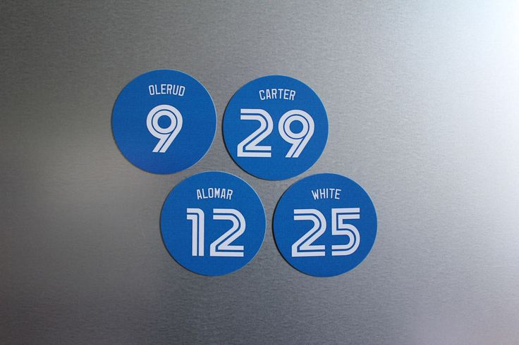 Toronto Blue Jays 1993 4 Magnet Set: Devon White, Alomar, Olerud, Joe Carter #TorontoBlueJays
