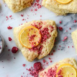 Meyer Lemon Scones with Raspberry Crumbs. (How Sweet It Is) | Lemon ...