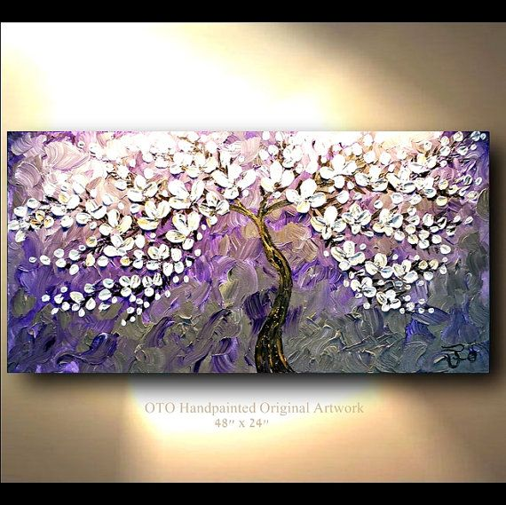 Purple Flower Oil Painting Abstract Wall Art Picture: 58 Best Images About Paintings On Canvas On Pinterest