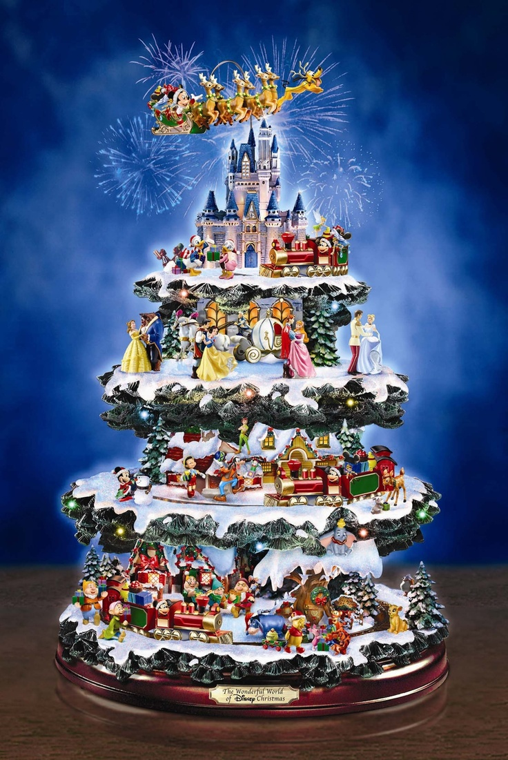 Kinkade christmas ornaments - Musical Christmas Ornament The Wonderful World Of Disney Christmas