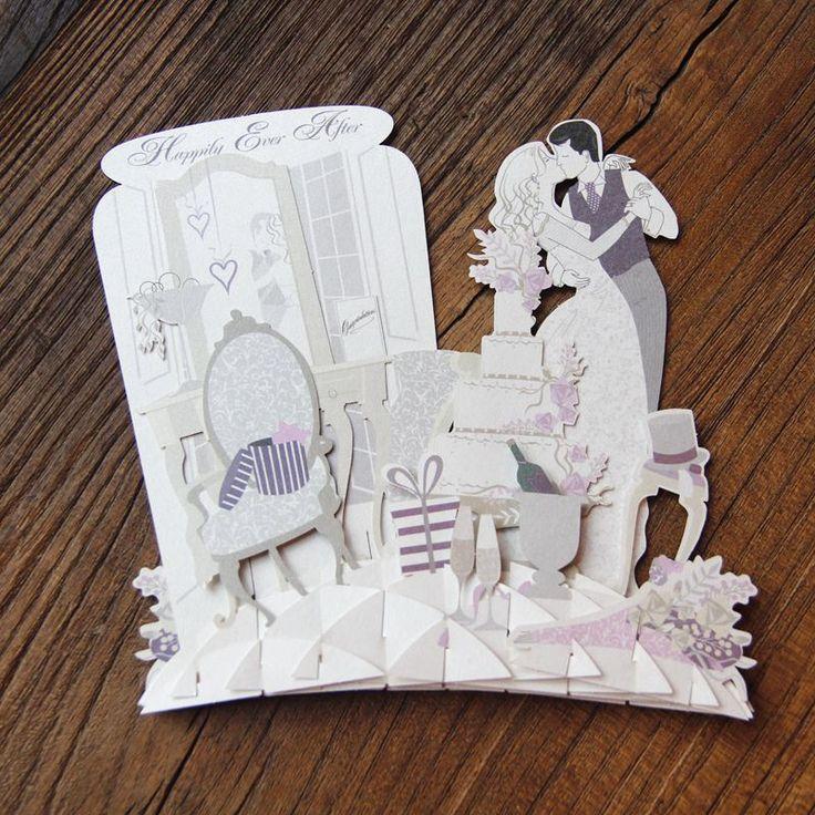 wedding anniversary greeting cardhusband%0A Handmade Kirigami  u     Origami  D Pop UP Cards Lovers Wedding Greeting Cards  Birthday Valentine u    s Day