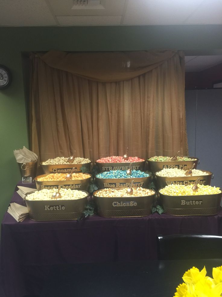 Gold bucket popcorn bar