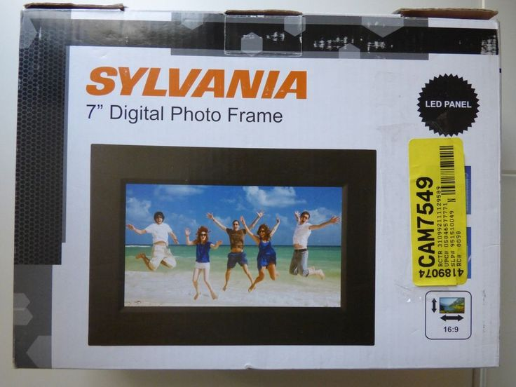 sylvania sdpf757 7 digital picture frame