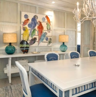 Florida Beach Decor | On the opposite wall, bright Tropical Colors cheer up the room. The ...