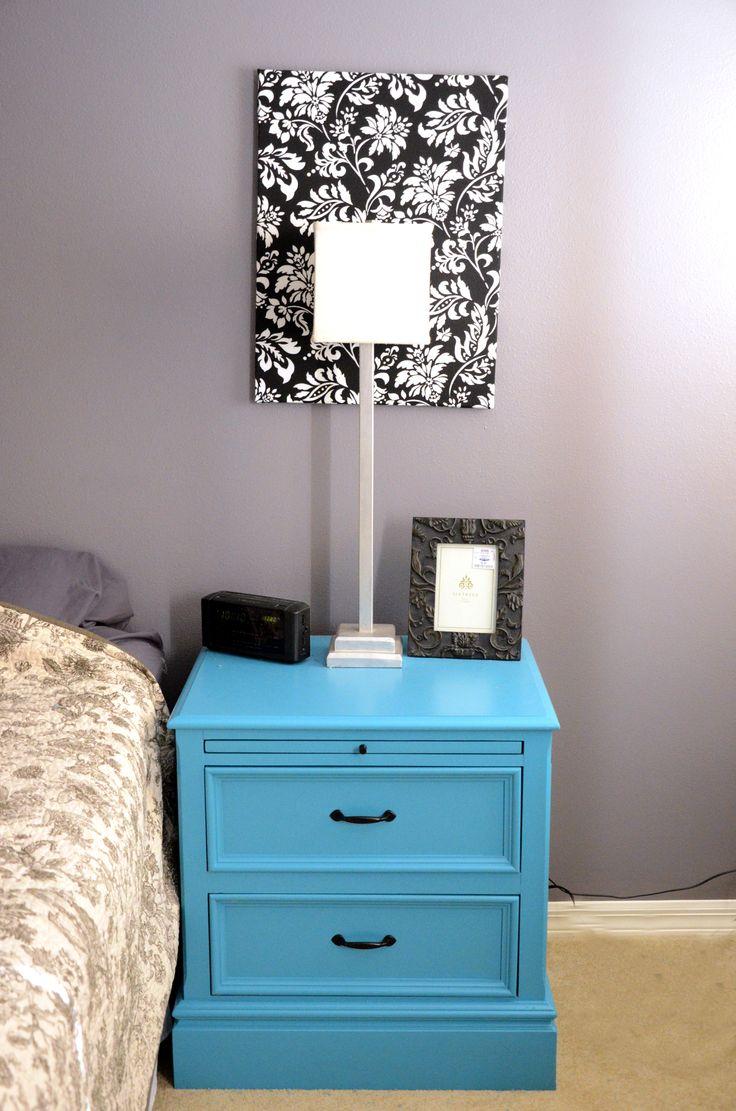 Bold nightstand--trash to treasure