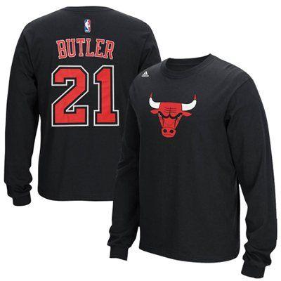 Jimmy Butler Chicago Bulls adidas Name & Number Long Sleeve T-Shirt - Black