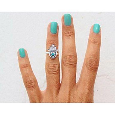 europese handvorm met zilveren's gem vrouwen met zirkonia midi ringen (1 pc) - EUR € 1.91