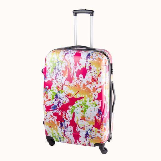valise trolley d cor taches color es hauteur 71 cm. Black Bedroom Furniture Sets. Home Design Ideas