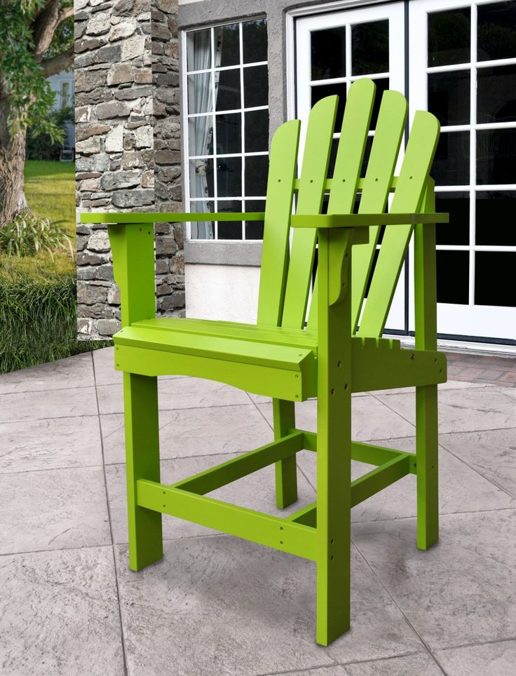 Shineco Westport Counter High Chair In Lime Green Finish