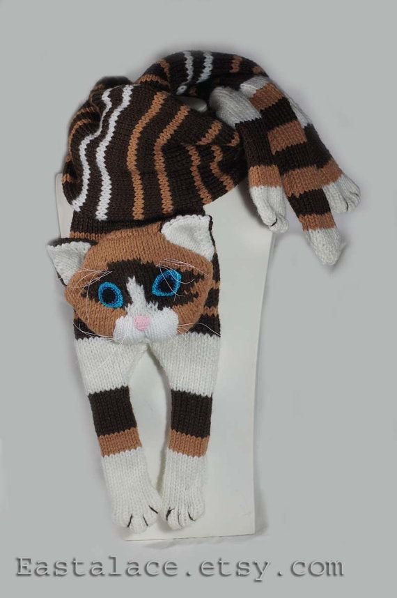 Patrón de bufanda de gato PDF file tejer un gato por Eastalace