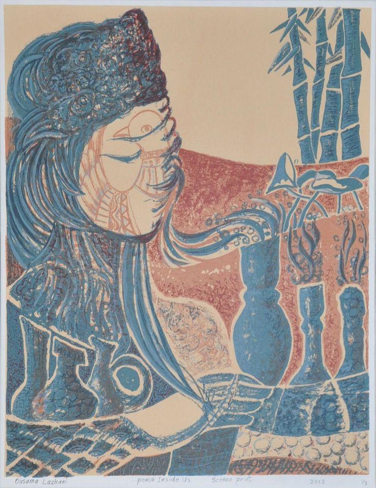 Ousama Lazkani 'Peace Inside Us' #Screenprint