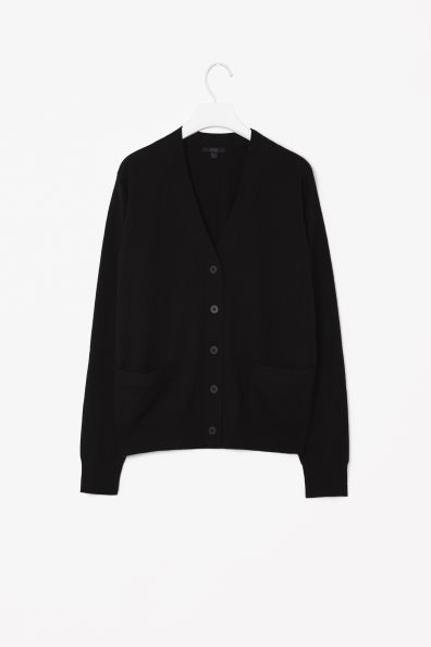 Too big and I concluded I prefer a cardigan with a round collar; returned