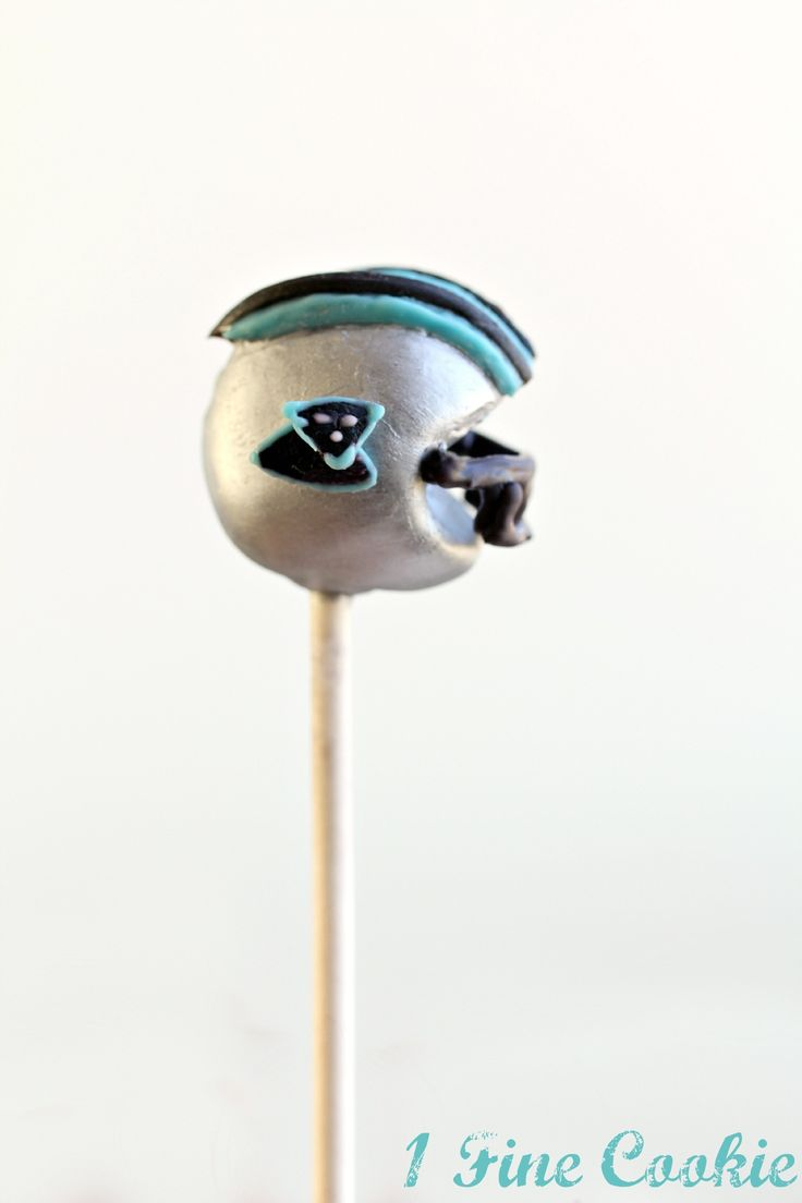 Carolina Panthers Cake Pops by 1 Fine Cookie. For all 32 teams: wp.me/p1jcdp-Az
