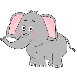 Brown Baby Elephant Clip Art Images. All Images Are On A ...