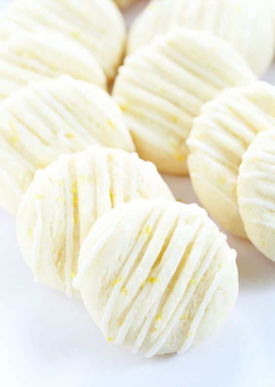 These gluten free lemon meltaway cookies aren't chewy and they aren't crumbly. They just melt in your mouth, and are just right for Easter or any time!