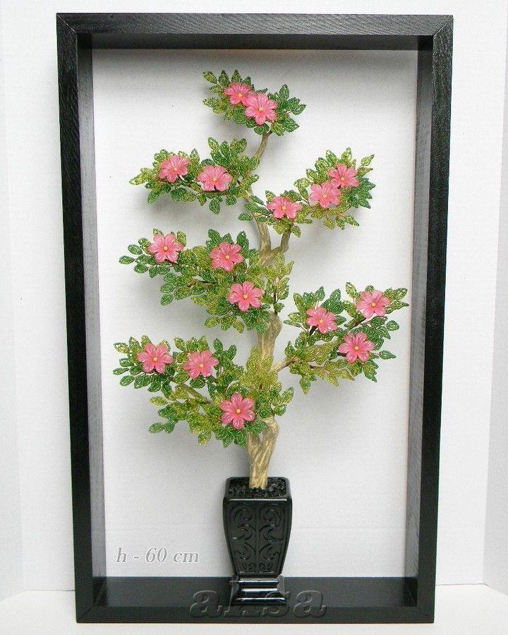Pin oleh Oksana di Beaded Bonsai Tree Bunga, Akrilik