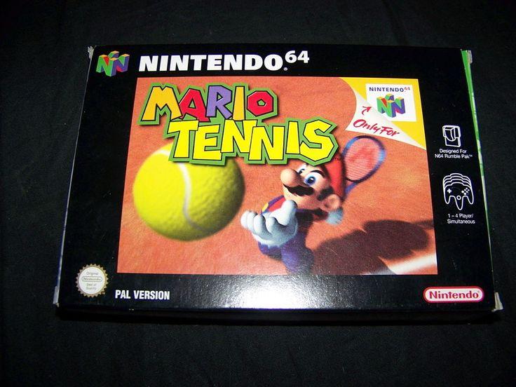 Juego Nintendo 64 MARIO TENNIS PAL Version con Caja y Manual