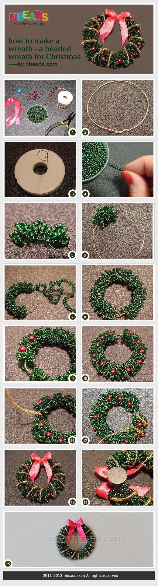 La guirnalda con cuentas para Navidad • Cómo hacer ver las imágenes: