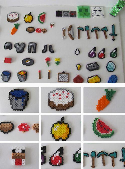 Minecraft Perler Beads Food | so much fun