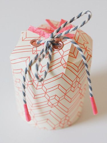 Paper cup gift box tutorial