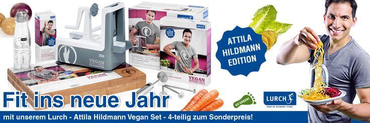 Lurch - Attila Hildmann Vegan Set - 4-teilig - Attila Hildmann Edition - Die Kreativität in der gesunden Küche liegt jetzt sprichwörtlich in Eurer Hand!