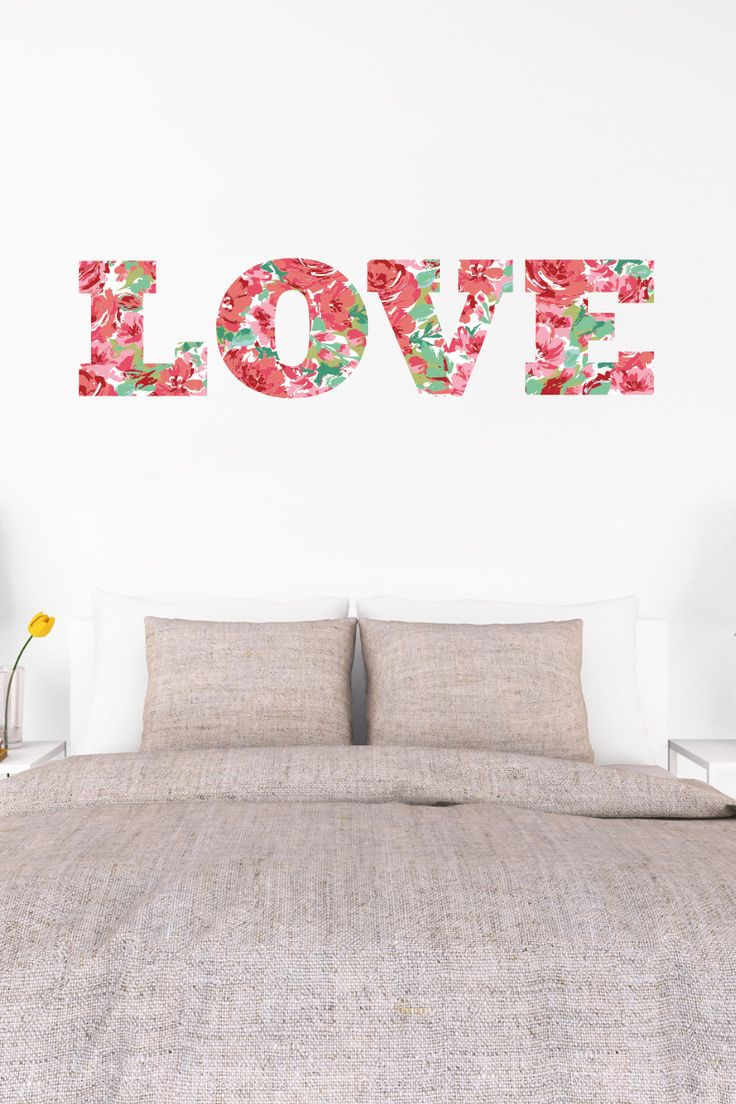 Wall decal new york letter frame cheap stickers world discount - Brighten Any Room With Marthastewart Wall Art Decor Each Letter In Our Floral Love Decal Is Separate Making It Easy To Position In Any Order