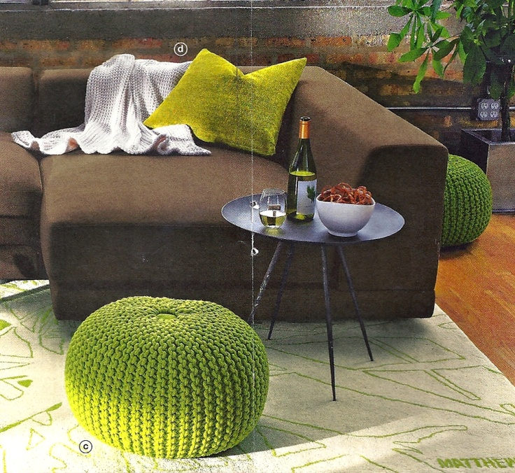 1000+ images about Knitted poufs on Pinterest Floor cushions, Pouf ottoman and Ottomans