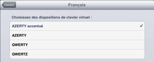 iOS6 : Activez le clavier français accentué (et les emojis)