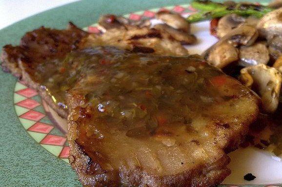 Foto de la receta de salsa para acompañar carnes a la parrilla